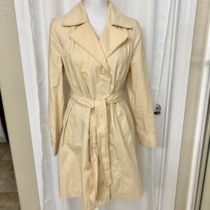 SONOMA SUMMER YELLOW BUTTER COLOR TRENCH COAT MED